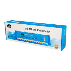 Multischalter SAT hb-digital UHD-MS 9/16 bis zu 16 Teilnehmer
