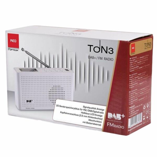 Opticum RED DAB/FM Radio TON-3 WEISS