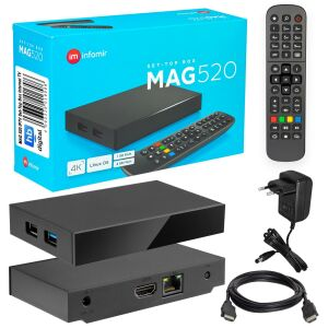 MAG 520 IPTV Set Top Box mit 4K Unterstützung Linux