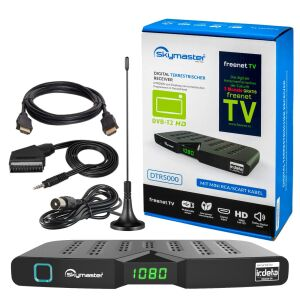 SET B-Ware Skymaster DVB-T2 Receiver + DVB-T Antenne +...