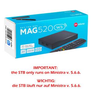 MAG 520w3 IPTV Set Top Box mit 4K Unterstützung...