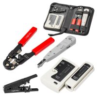 Network tool SET with LSA laying tool Network crimping pliers for network cables RJ45 4-piece with POCKET