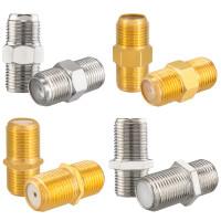 F-Verbinder hb-digital Schmale oder Breiter Mutter vergoldet oder vernickelt
