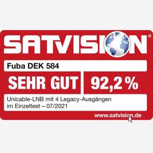 LNB Unicable SCR Fuba DEK 584 SCHWARZ