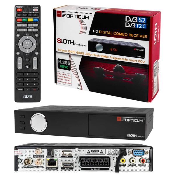 Rückläufer RED Opticum SLOTH Combo Plus DVB-S2 DVB-T2/C Receiver