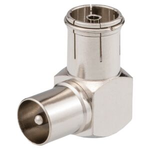 Winkeladapter  IEC-Stecker - IEC-Buchse 9,5mm
