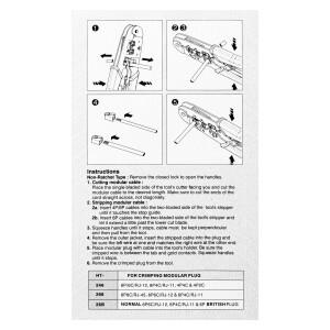 Crimpzange E-SK310 Werkzeug für Netzwerkstecker RJ45...