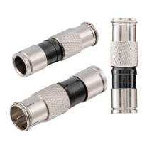 Kompression F-Quikstecker für Koaxkabel Ø 6,8 - 7,4 mm vernickelt