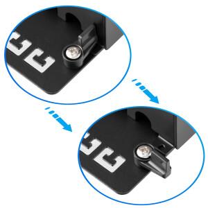 Patchpanel / Patchfeld 8-Port CAT.6a hb-digital für Netzwerkkabel LAN Verlegekabel, STP SCHWARZ