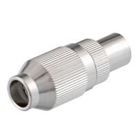 IEC-Stecker für Koaxkabel Ø 6,8 - 7,2 mm Schraubanschluß, Metallgehäuse