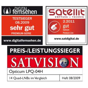 Rückläufer RED OPTICUM Premium LQP-04H Quad LNB...