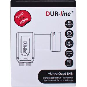 "Rückläufer Dur Line Ultra Quad LNB ""SCHWARZ"""