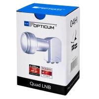 "Rückläufer Blue OPTICUM Premium LQP-04H Quad LNB 0,1 dB ""WEISS"""