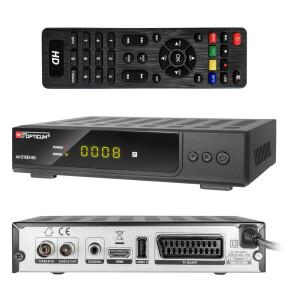 """Rückläufer RED Opticum AX C100s HD DVB-C Kabel Receiver """"SCHWARZ"""" PVR"""
