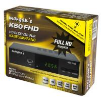 Rückläufer Morgans K50 FHD DVB-C Kabel Receiver