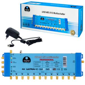 Multischalter SAT hb-digital UHD-MS 5/12 bis zu 12...