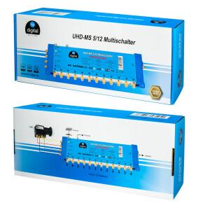 Multischalter SAT hb-digital UHD-MS 5/12 bis zu 12 Teilnehmer