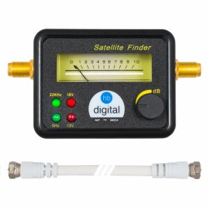 Satfinder Analog hb-digital SF-777G mit F-Kabel SCHWARZ