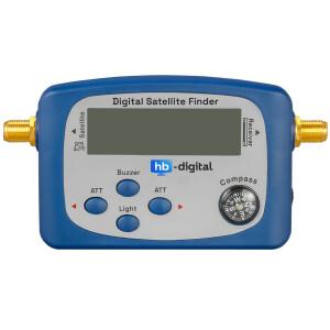 Satfinder Digital hb-digital SF-888G mit LCD Display eingebauter Kompass und Ton BLAU