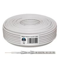 SET Satellitenschüssel hb-digital 40cm Stahl ANTHRAZIT + LNB + Kabel + F-Stecker + Gummitüllen