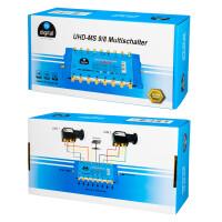 Multischalter SAT hb-digital UHD-MS 9/8 bis zu 8 Teilnehmer
