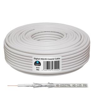 SET Satellitenschüssel hb-digital 40cm Stahl HELLGRAU + LNB + Kabel + F-Stecker + Gummitüllen