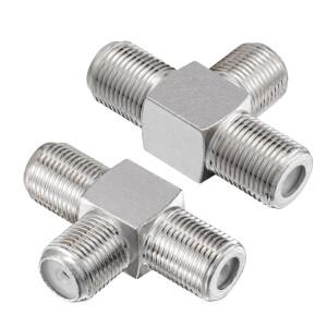 T-Stück Adapter 1x F-Kupplung auf 2x f-Kupplungen...
