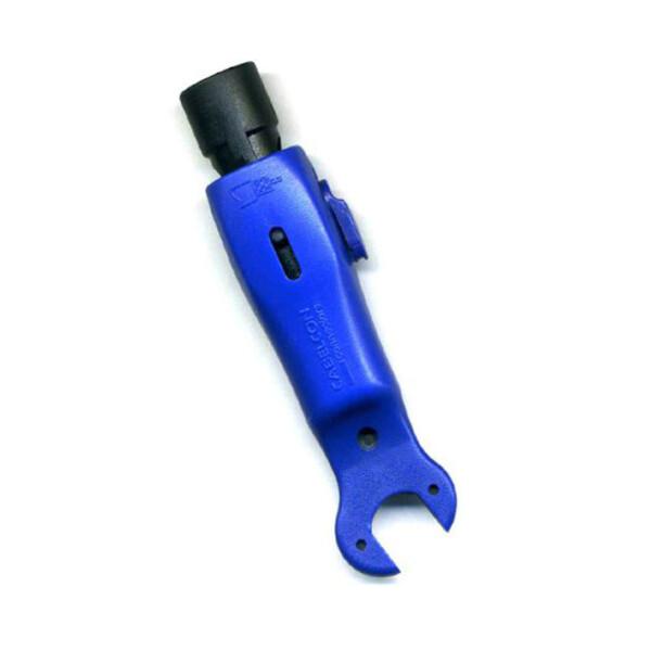 Abisolierwerkzeug Cabelcon  RG6/59 mit Maulschlüssel BLAU