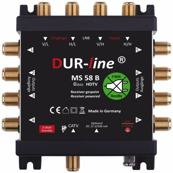 Multischalter SAT Dur-line MS 58B 5/8 bis zu 8 Teilnehmer
