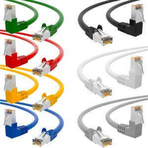 RJ45 Patch Cord CAT 6 with right-angle plug S/FTP PVC