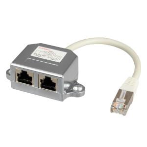 LAN Splitter 1 auf 2 LAN Verteiler RJ45 für CAT 5e...