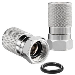 F-Stecker 8,2mm mit Gummidichtung für Koaxialkabel...
