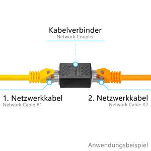LAN Kabel Verbinder RJ45 Buchse CAT 6a Indoor SCHWARZ