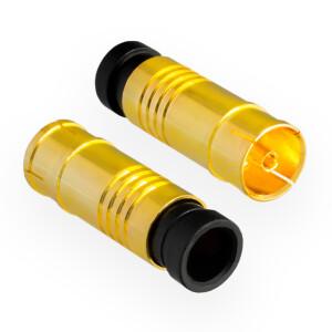 Kompression IEC-Buchse für Koaxkabel Ø 6,8 - 7,2 mm vergoldet