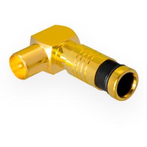 Kompression IEC-Winkelstecker für Koaxkabel Ø...