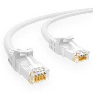 1 m RJ45 Patch cable CAT 6 U/UTP PVC White