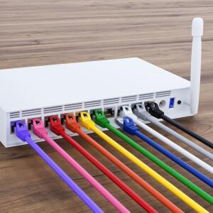 0,5 m RJ45 Patch cable CAT 6 U/UTP PVC Gray