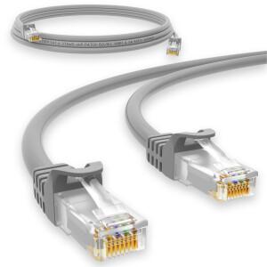 2 m RJ45 Patch cable CAT 6 U/UTP PVC Gray