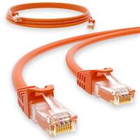 1 m RJ45 Patch cable CAT 6 U/UTP PVC Orange