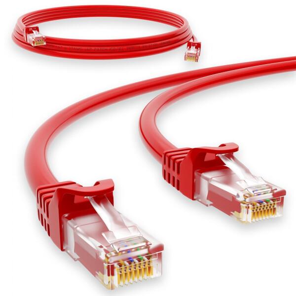 1 m RJ45 Patch cable CAT 6 U/UTP PVC Red