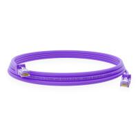 0,5 m RJ45 Patch cable CAT 6 U/UTP PVC Lila
