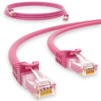 1 m RJ45 Patchkabel CAT 6 U/UTP PVC Pink