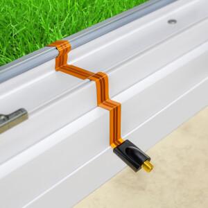 Fensterdurchführung extrem flach ultra lang 28 cm GOLD