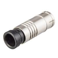 Kompression IEC-Buchse für Koaxkabel Ø 6,8 - 7,2 mm vernickelt