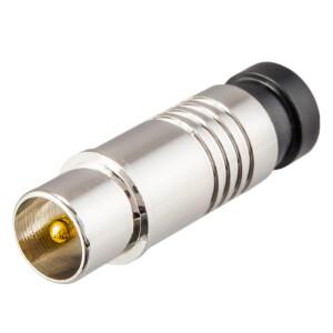 Kompression IEC-Stecker für Koaxkabel Ø 6,8 - 7,2 mm vernickelt