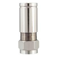Kompression F-Stecker für Koaxkabel Ø 6,8 - 7,2 mm vernickelt