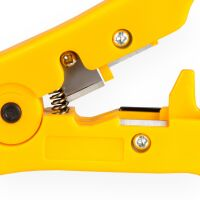 Stripper for coaxial cable, network cable, SAT cable, antenna cable 3 in1 YELLOW