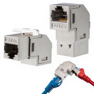 Keystone LAN Kabel Verbinder RJ45 CAT 6a 90° Winkel...
