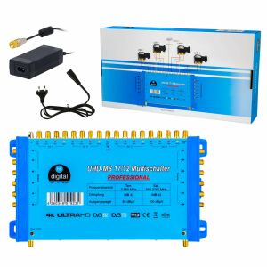 Multischalter SAT hb-digital UHD-MS 17/12 bis zu 12...
