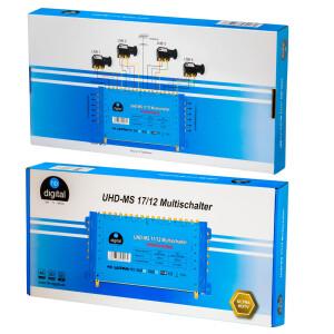 Multischalter SAT hb-digital UHD-MS 17/12 bis zu 12 Teilnehmer